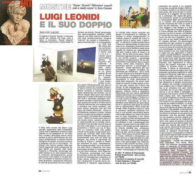 """Articolo """"Luigi Leonidi e il suo doppio"""" di Luigi Dati"""