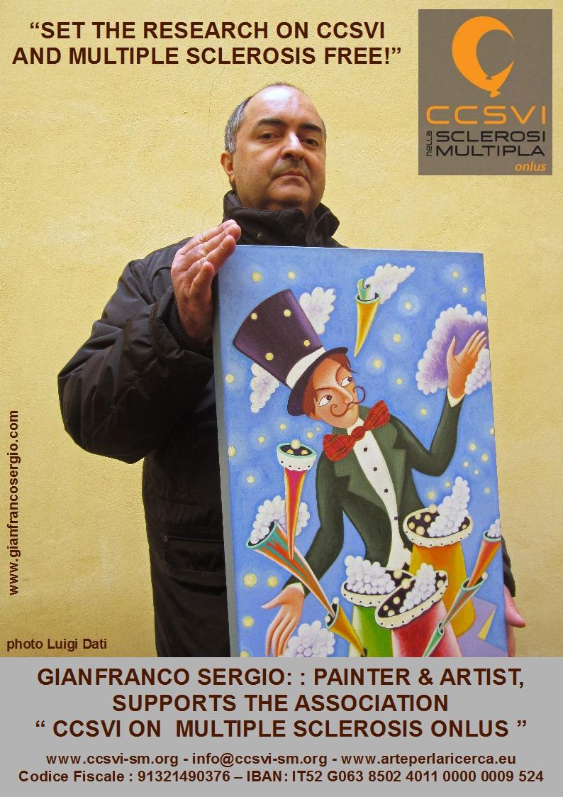 CCSVI - SM : il pittore Gianfranco Sergio sostiene l'associazione CCSVI nella SM Onlus