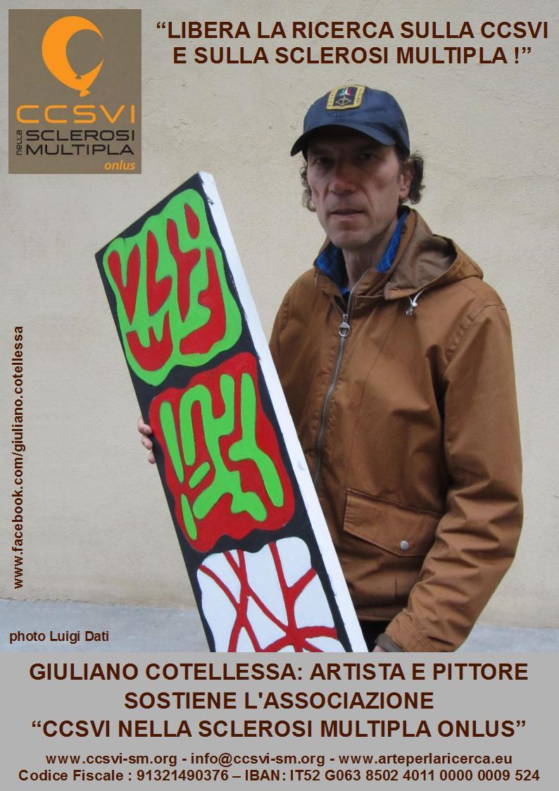 """Giuliano Cotellessa - artista e pittore - sostiene la campagna """"Libera la ricerca sulla CCSVI e sulla Sclerosi Multipla!"""""""